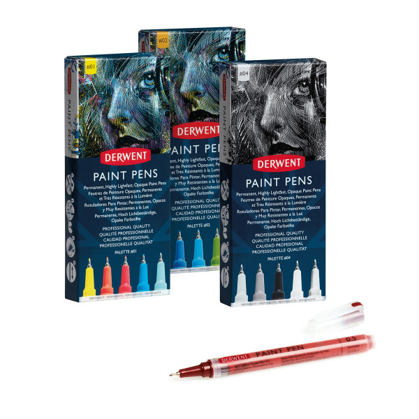Derwent Paint Pen Tuschestift Set