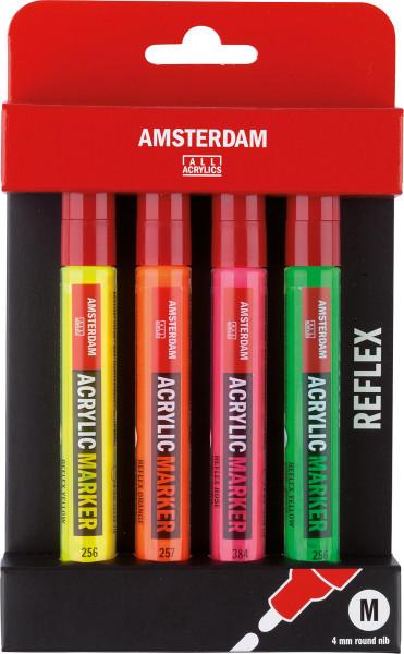 Talens Amsterdam Acrylmarker-Set, Reflexfarben