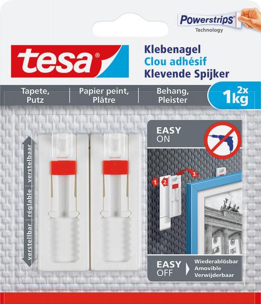 Tesa® Verstellbarer Klebenagel für Tapeten und Putz