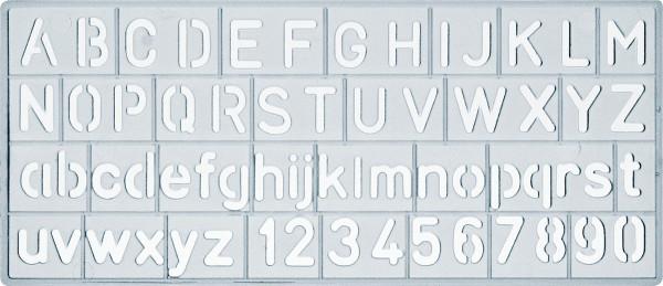 Ars Nova Schrift-/Zahlenschablone, Standard