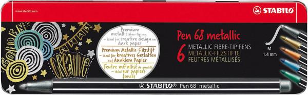 Stabilo Pen 68 Metallic Set