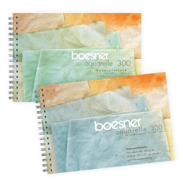 Spiralblock | boesner Aquarelle 300