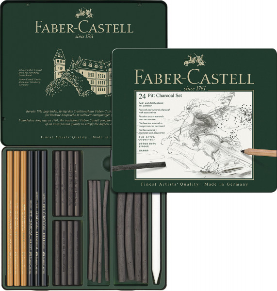 Kohle-Set | Faber-Castell Monochrome-Set