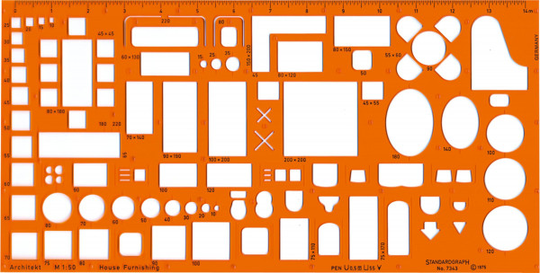 Standardgraph Möblierungsschablone