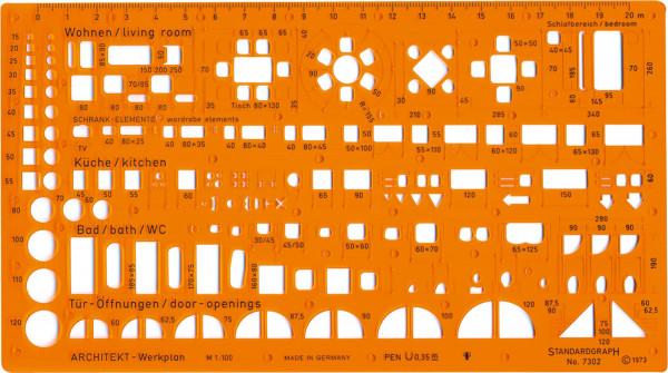 Standardgraph Architekt-Werkplanschablone [DE-online]