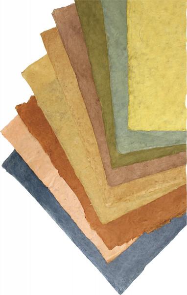 Kahari Pflanzenfarben-Naturpapier, ca. 60–70 g/m²