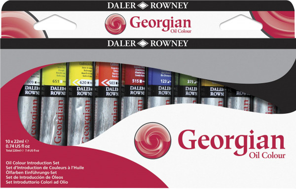 Daler-Rowney Georgian Ölfarben-Einführungsset | 10 x 22 ml
