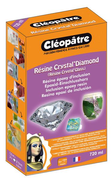 Cléopâtre Résine Crystal' Diamond