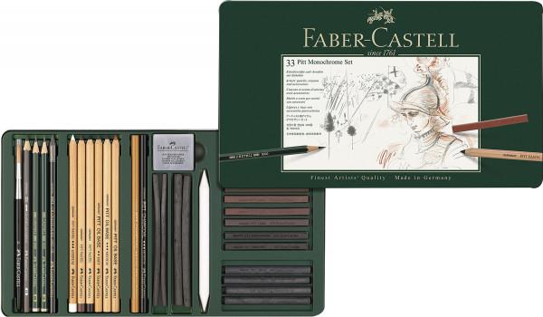 Faber-Castell Pitt Monochrome Set, 33-teilig