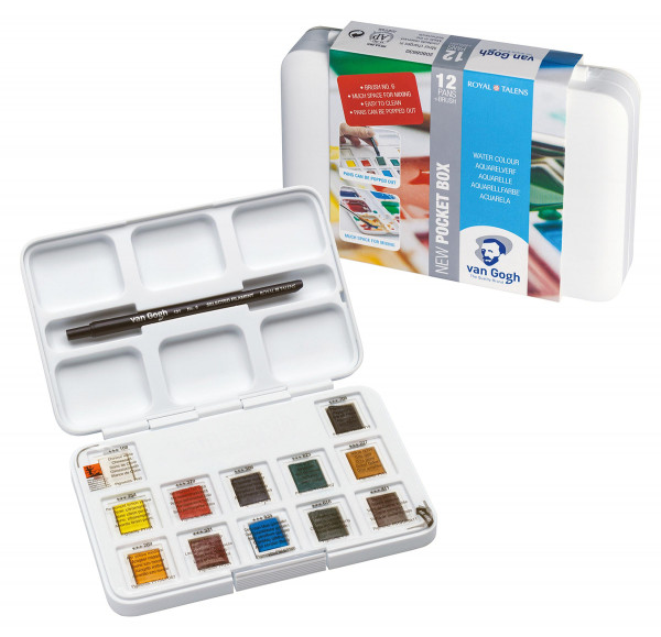 Standard-Farbtöne | Talens Van Gogh Aquarellfarbe Pocket Box