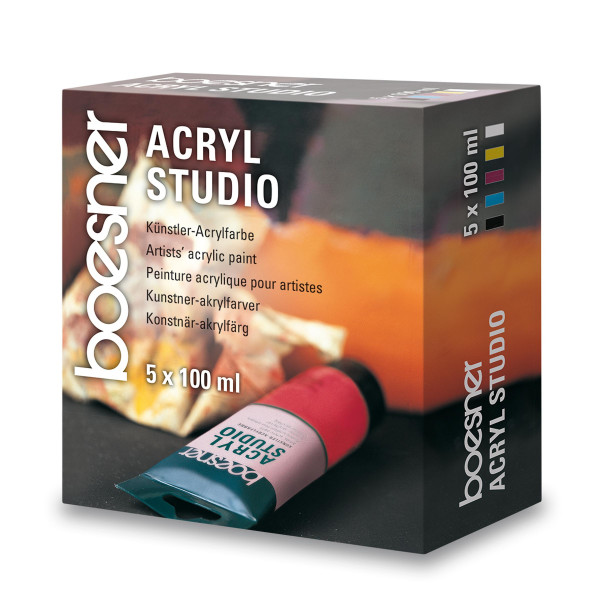 boesner Acryl Studio-Set | 5x 100 ml