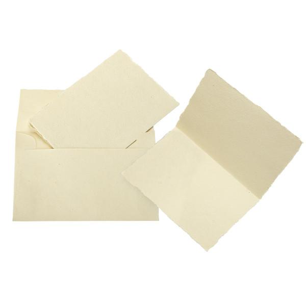Silberburg Grußkarten und Kuverts mit Büttenrand