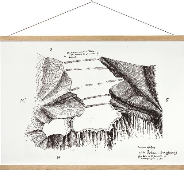 Posterschiene aus Holz