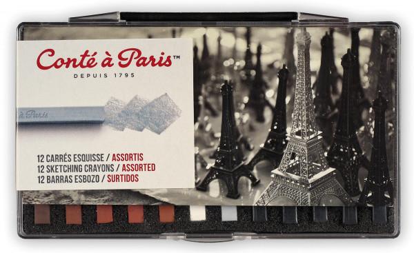 Assortis   Conté à Paris Esquisse Carrés