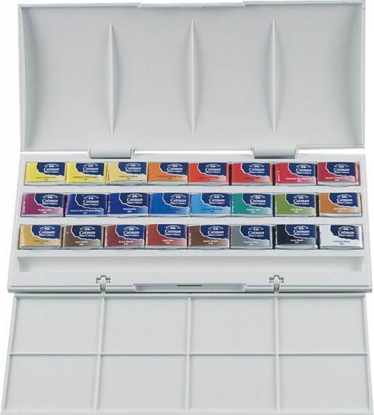 Winsor & Newton Cotman Aquarellefarbe Kasten mit 24 1/2 Näpfchen