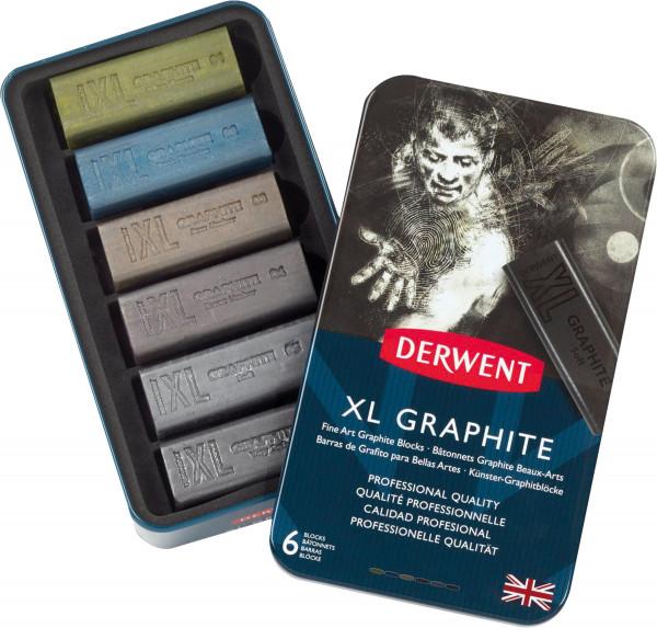 Derwent XL Grafitkreide-Set | 6 Kreiden
