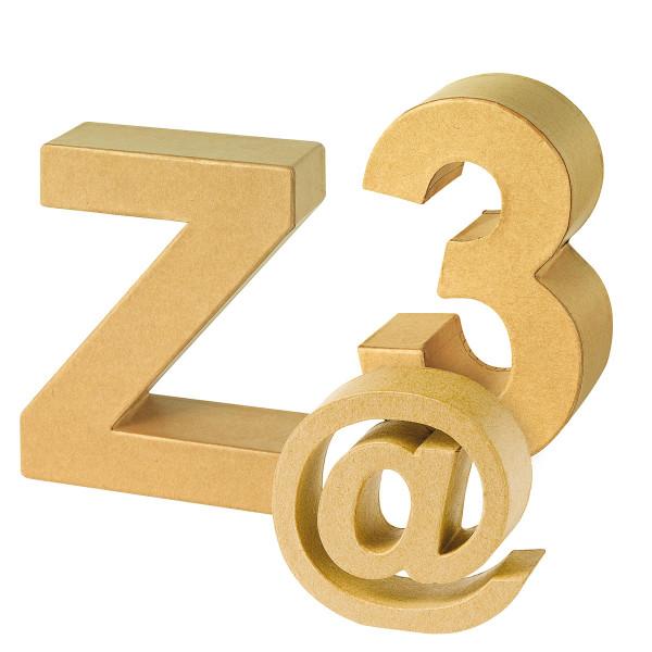 Caractere Buchstaben und Zahlen