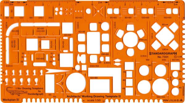 Standardgraph Architekt-Werkplanschablone II [DE-online]