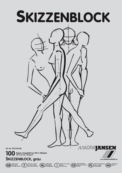 Marpa Jansen Altpapier-Skizzenblock   Grau
