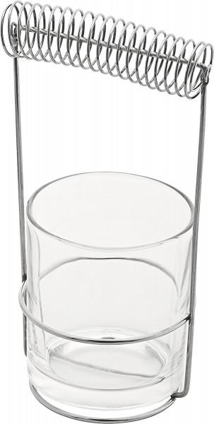 Seng Pinselwascher mit Glas