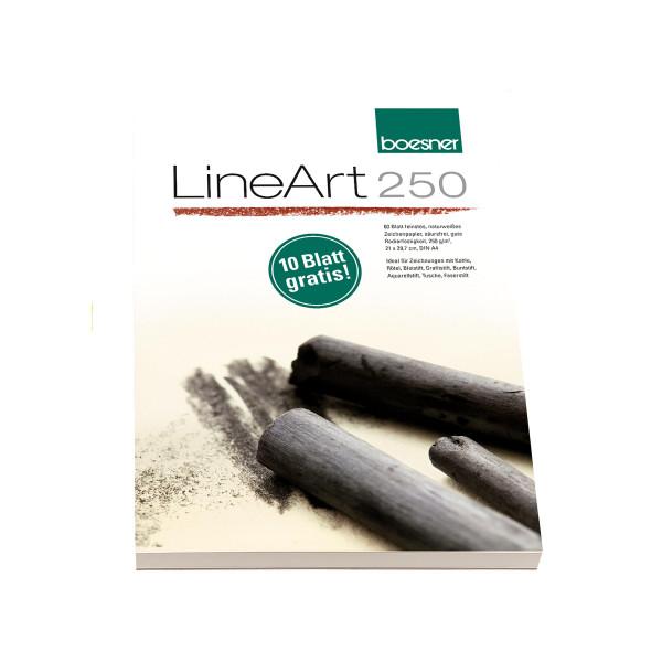 MAILING_2021-03_Mrz: boesner LineArt 250 Zeichenpapier-Block | 21 x 29,7 cm/DIN A4 + 10 Blatt gratis