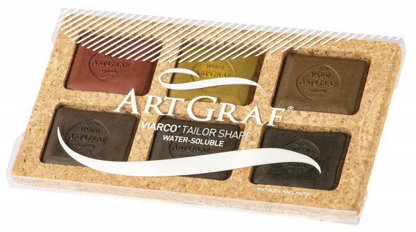 Art Graf Grafitkreide-Set | 6 Kreiden