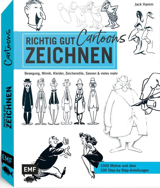 Richtig gut zeichnen – Cartoons (Jack Hamm) | EMF Vlg.