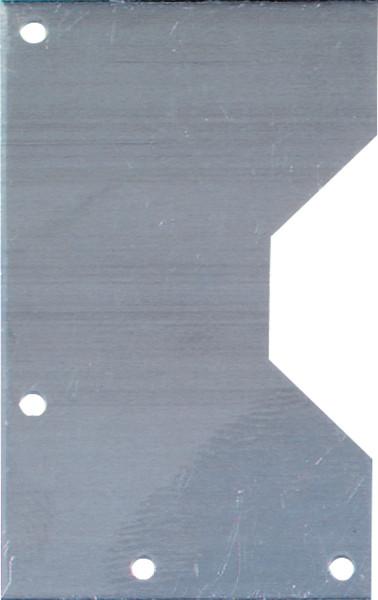 Set: 2 Aufhänger + 8 Schrauben | Alu-Aufhänger rechteckig